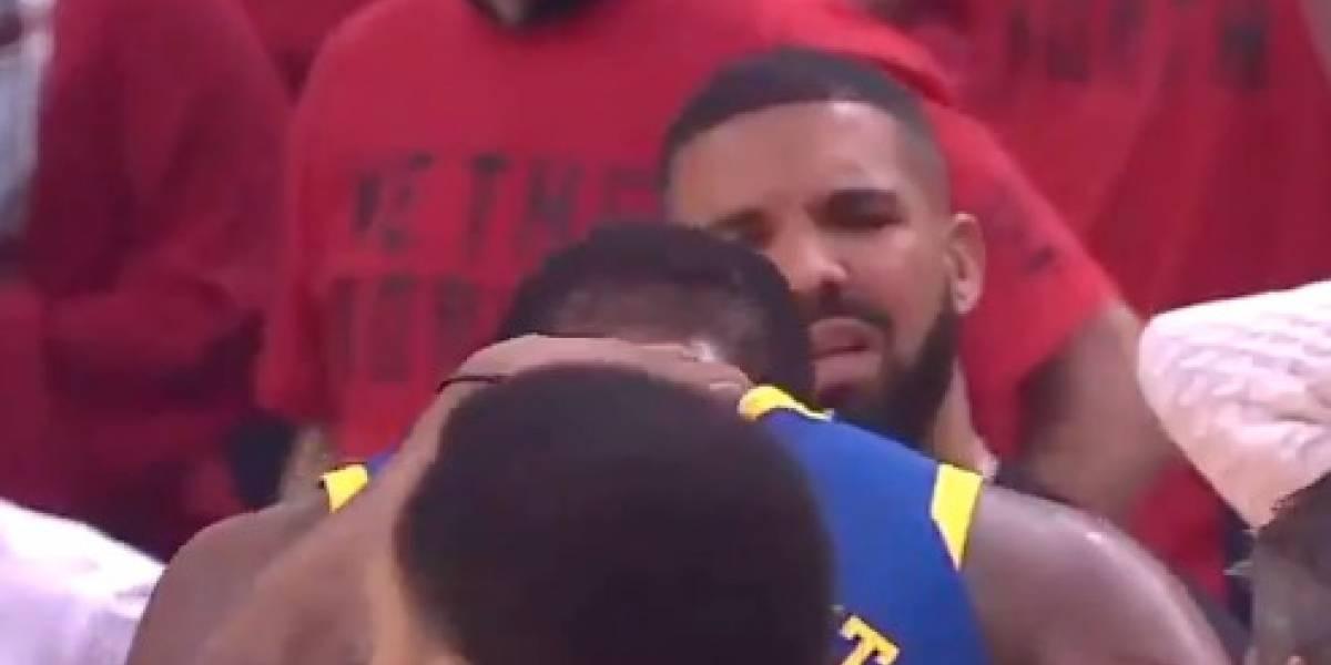 VIDEO: El rapero Drake enloquece con la lesión de Kevin Durant