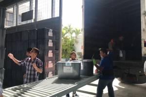 TSE realiza embalaje de materiales electorales