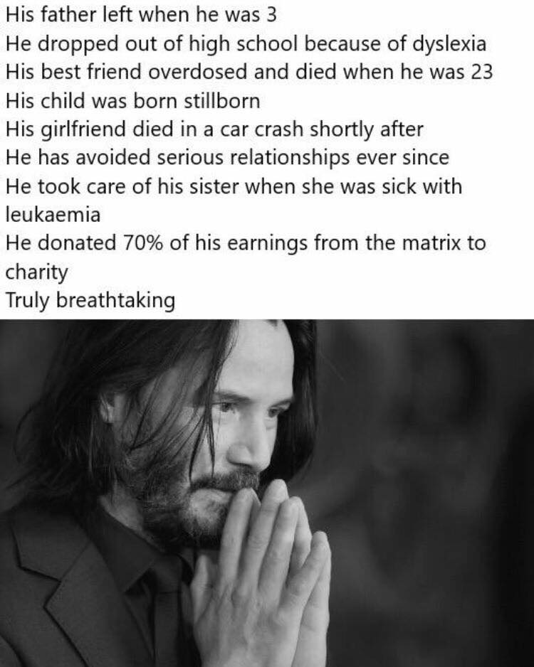 ¿Por qué tantos memes de Keanu Reeves en Facebook y otras redes?
