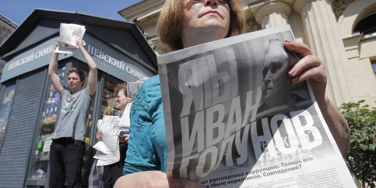 Crisis en Rusia por libertad de prensa: policía detuvo a más de 400 manifestantes en una protesta contra la persecución a periodistas