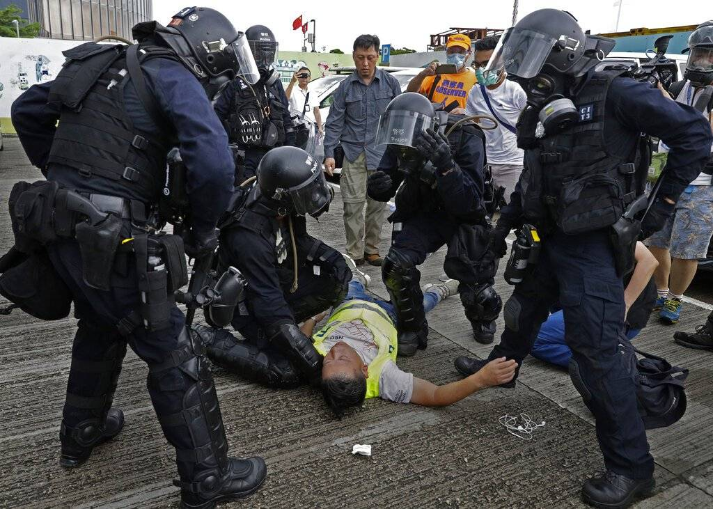 Protestas en Hong Kong Foto: AP