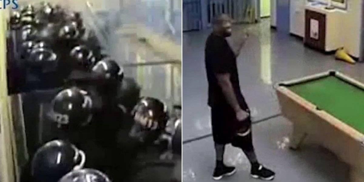 Vídeo revela que foi preciso tropa de choque inteira para deter um dos presos mais violentos da Grã-Bretanha