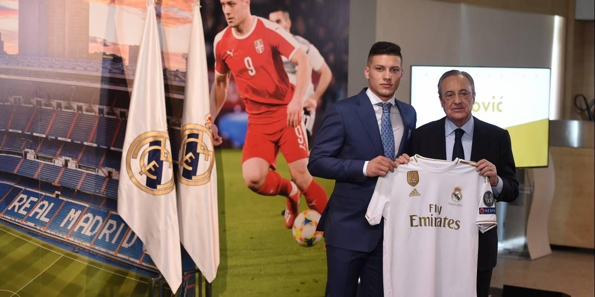 Luka Jovic es presentado con el Real Madrid: 'me gustaría ganar la Champions'