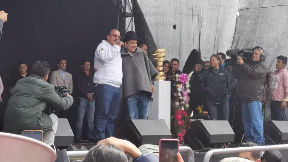 Richard Carapaz en Tulcán Metro Ecuador