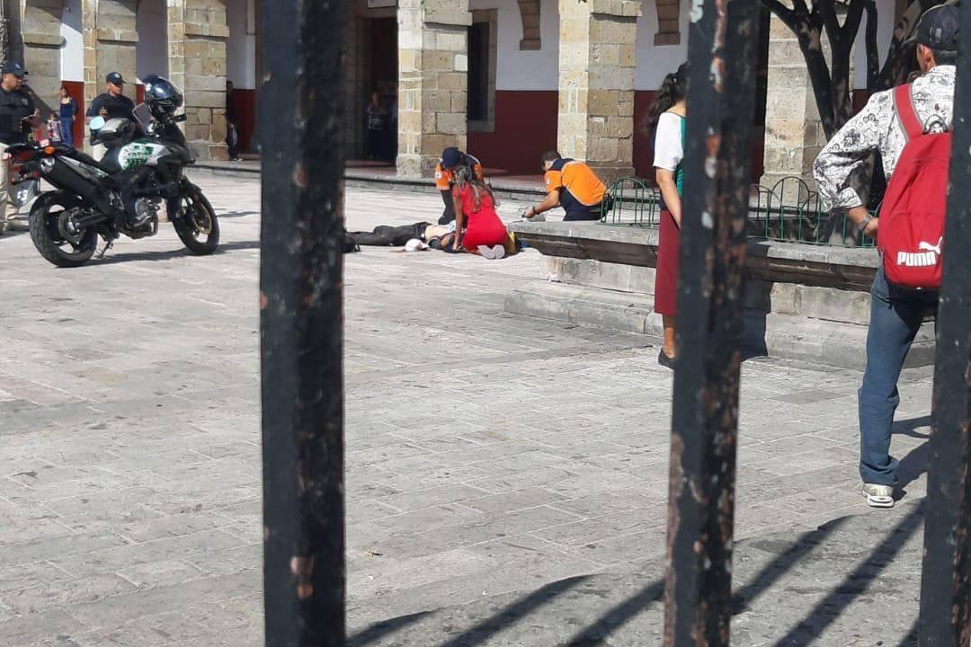 Atacan a hombre a cuchilladas en el atrio de la Basílica de Zapopan