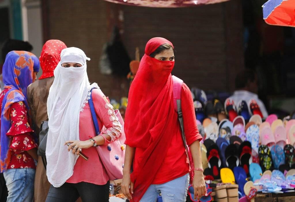 Ola de Calor en la India Foto: AP