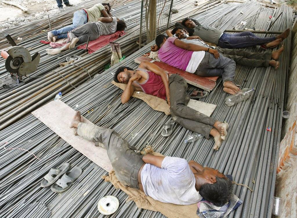 Ola de Calor en la India Foto: AP