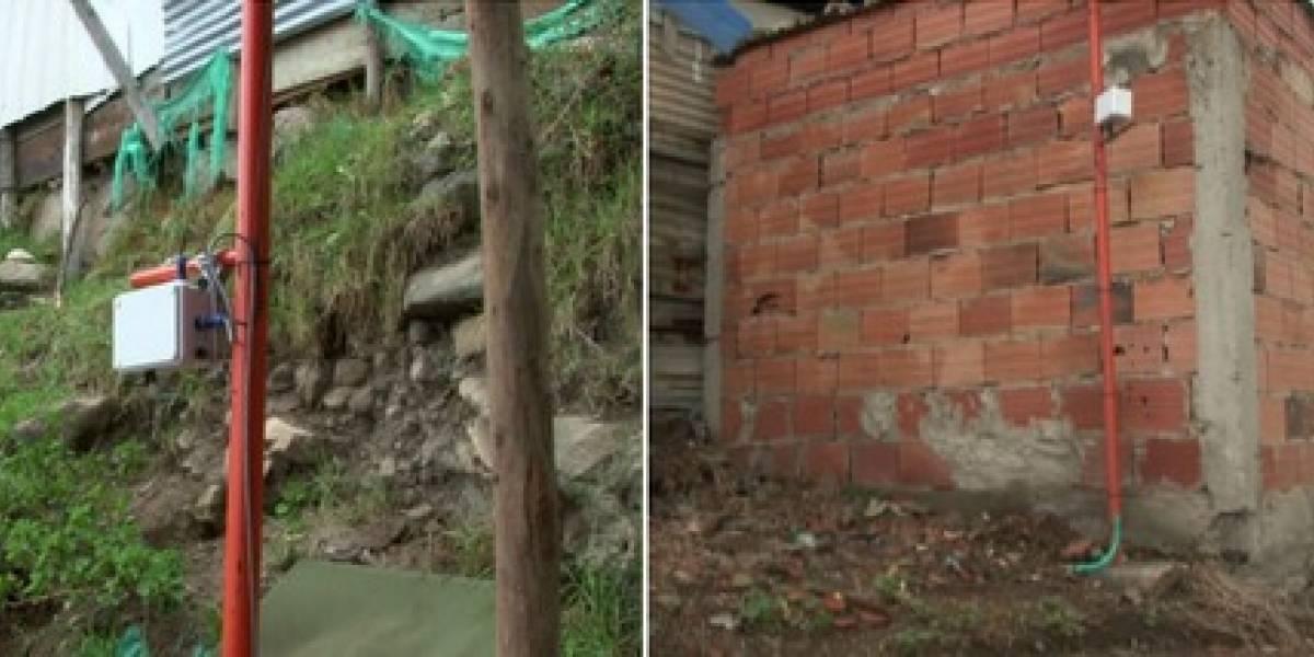 Soacha instaló sensores para prevenir inundaciones, incendios y deslizamientos