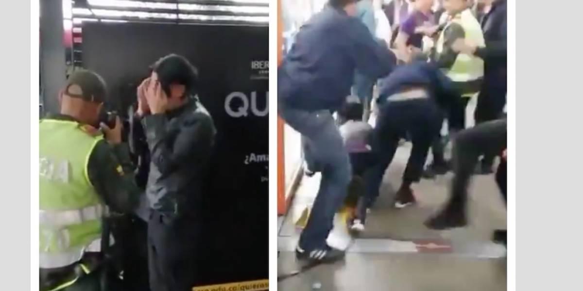 VIDEO: atrapan hombre que se masturbaba frente a una niña en TM y le propinan tremenda golpiza