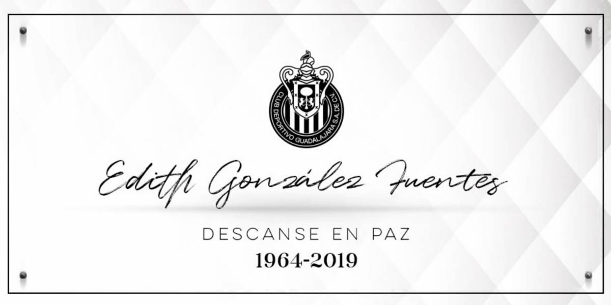 Chivas lamenta el fallecimiento de Edith González