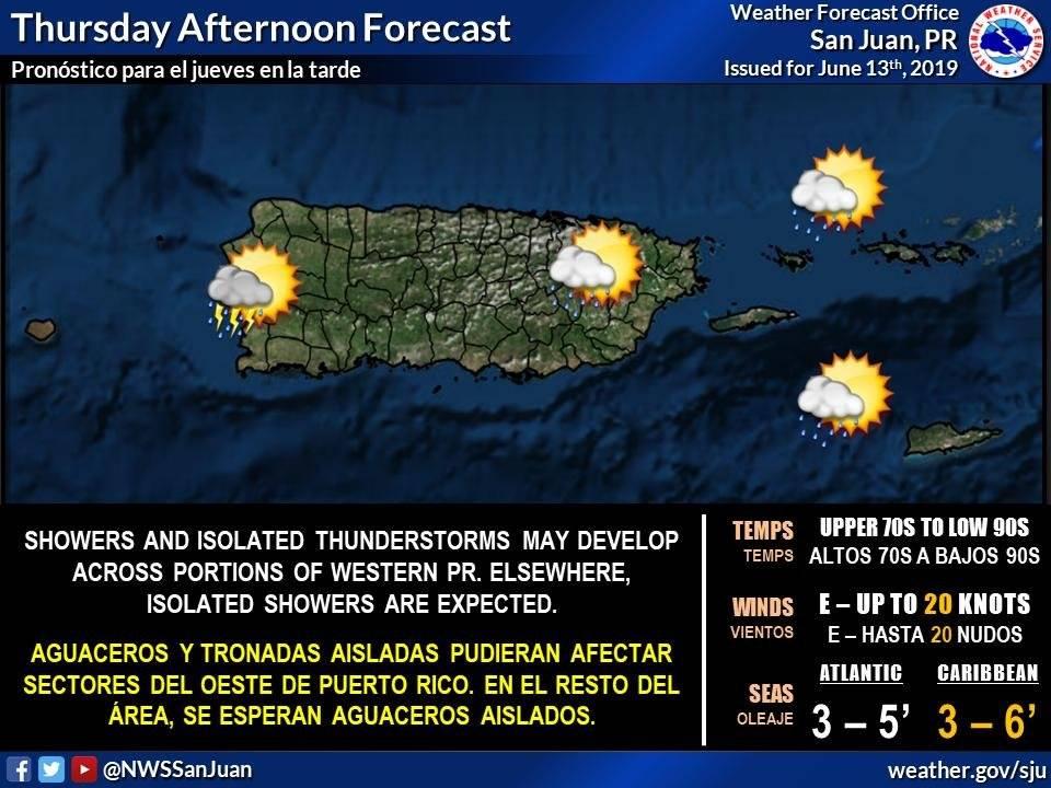 Temperatura para puerto rico