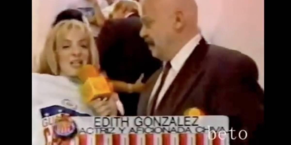 VIDEO: El 'Perro' Bermúdez 'balconeó' a Edith González tras título de Chivas