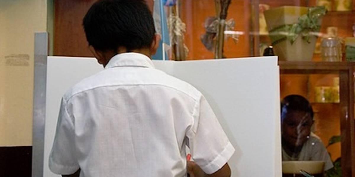 La niñez guatemalteca está invitada a votar por presidente y vicepresidente
