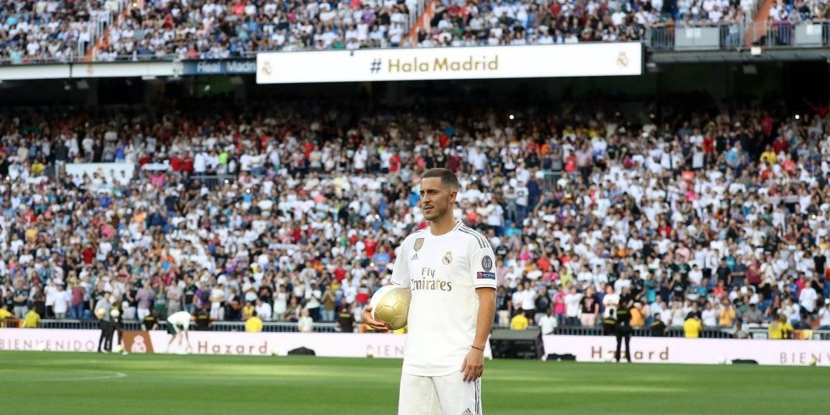 VIDEO: El Bernabéu pide a Mbappé durante presentación de Hazard
