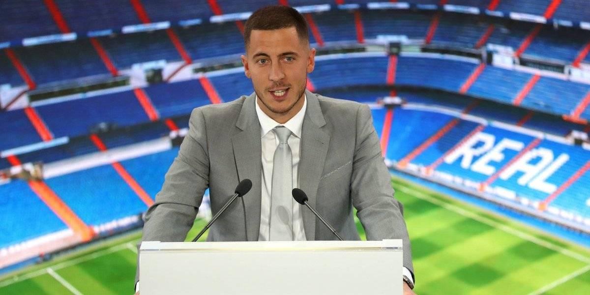 Presentación de Eden Hazard con el Real Madrid