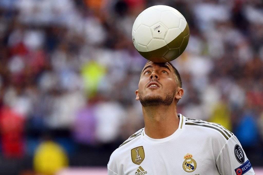 Presentación de Hazard con el Real Madrid AFP