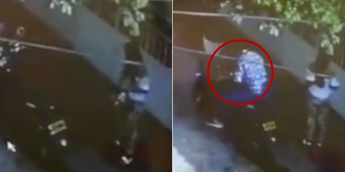 (Video) En tan solo segundos roban motocicleta a una mujer