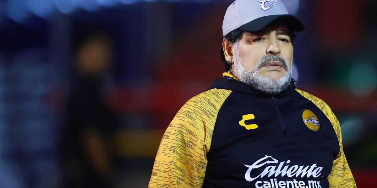 OFICIAL: Maradona deja la dirección técnica de Dorados de Sinaloa