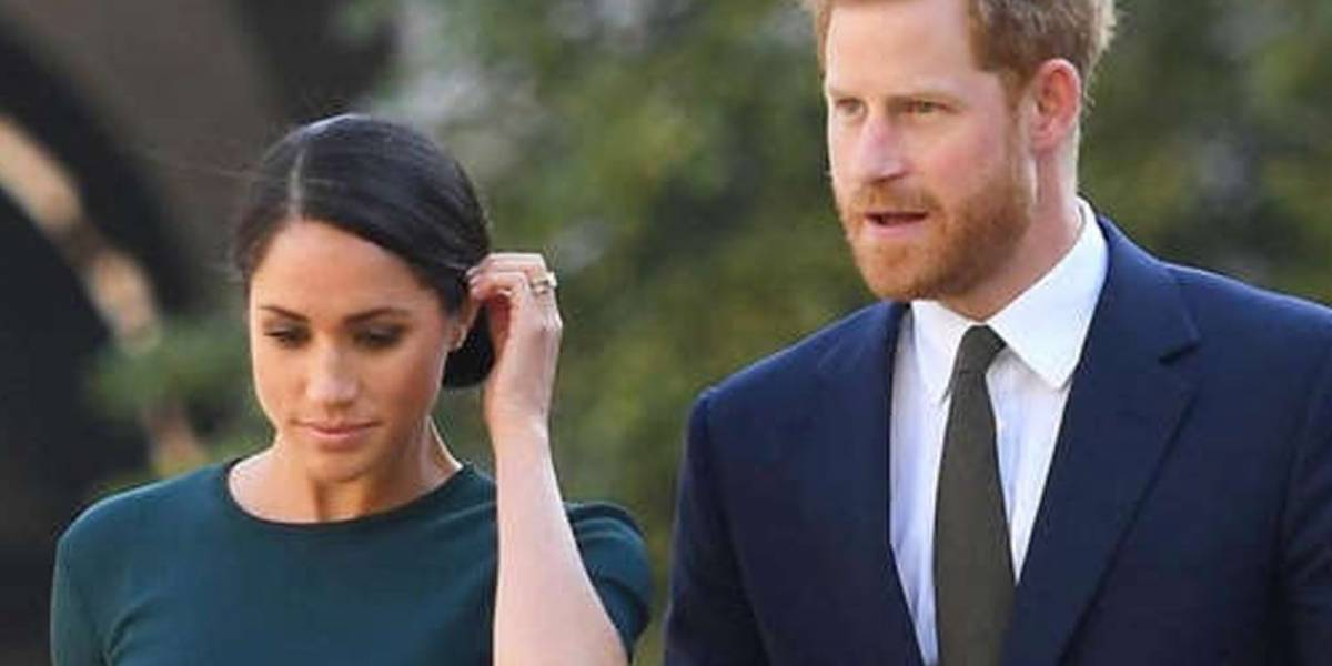 Las imágenes de la fuerte discusión que Meghan Markle y el príncipe Harry tuvieron en público y con toda la familia real presente