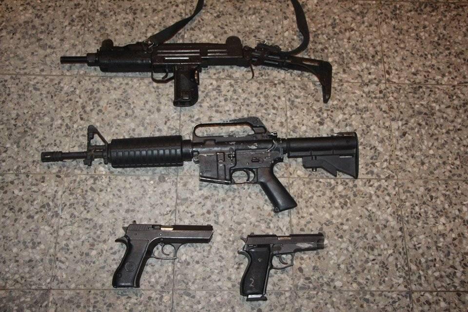 capturan a mujer con armas en un costal en Villa Nueva