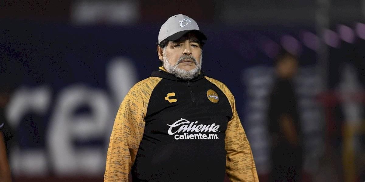 Diego Armando Maradona aclara su salida de Dorados