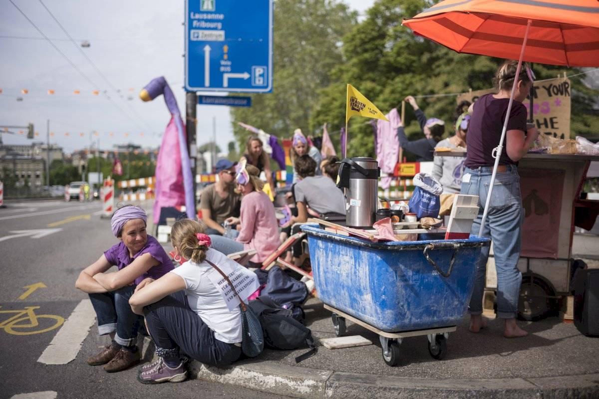 Huelga de mujeres en Suiza Foto: AP