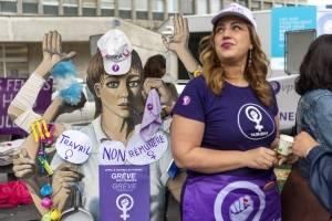 Huelga de mujeres en Suiza