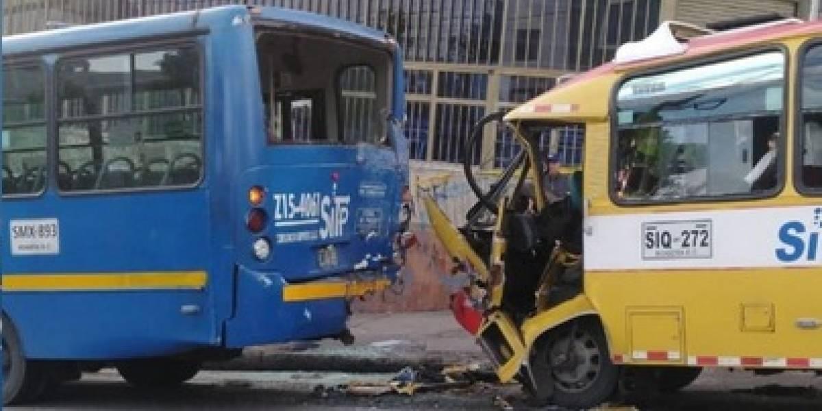 Catorce heridos en accidente de buses del SITP en el sur de Bogotá