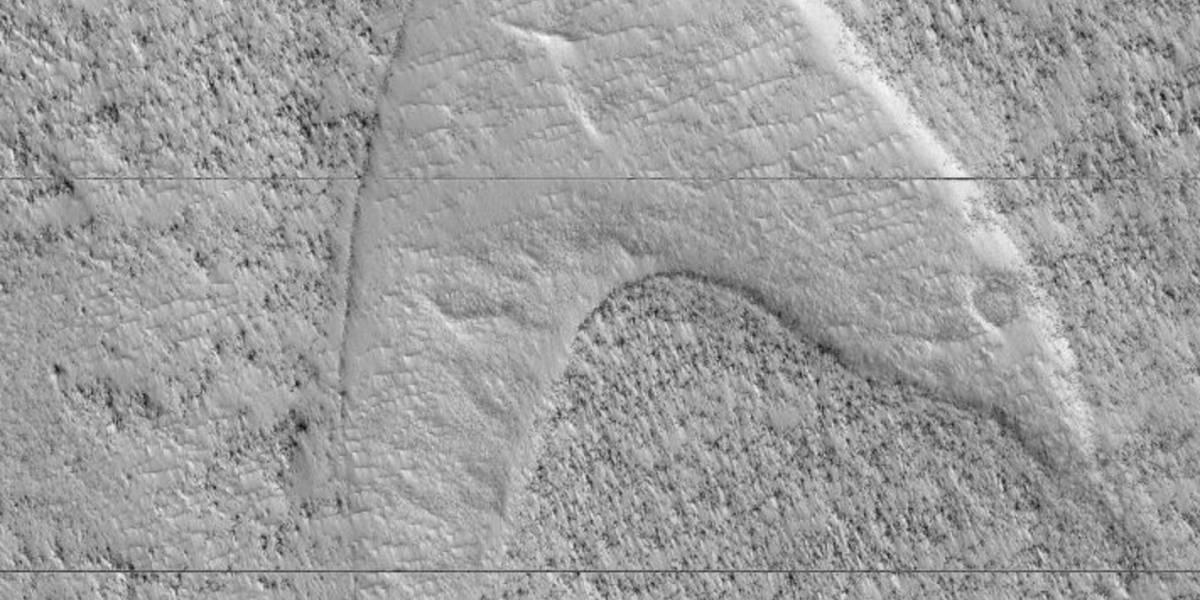 Símbolo de 'Jornada nas Estrelas' é encontrado pela NASA em Marte
