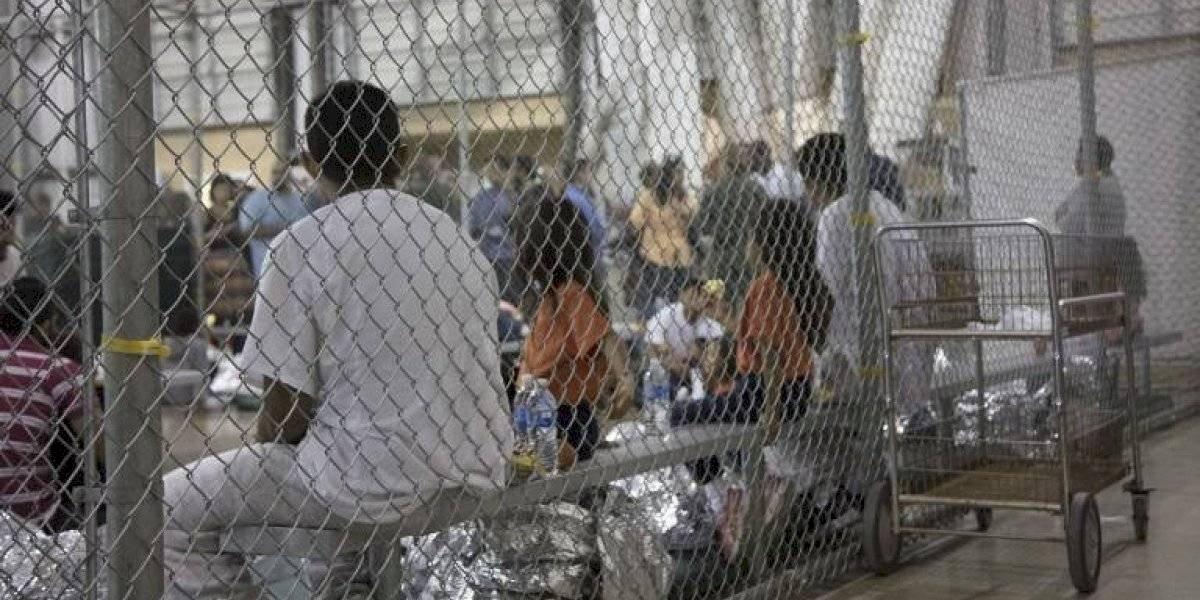 Centro de detención de migrantes. Foto: AFP