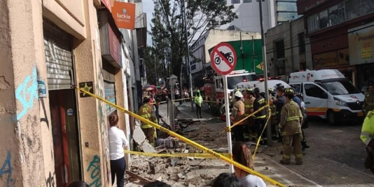 Dos muertos por derrumbe de una fachada en Chapinero