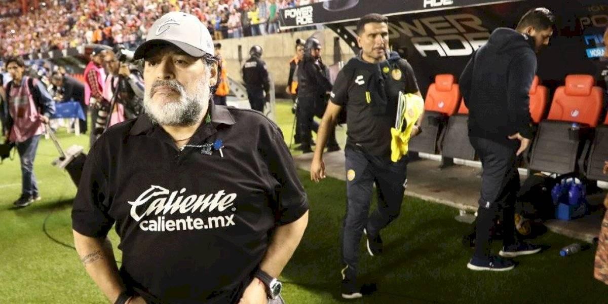 Maradona está a un paso de ser el nuevo DT de Gimnasia y Esgrima de La Plata para salvarlo del descenso