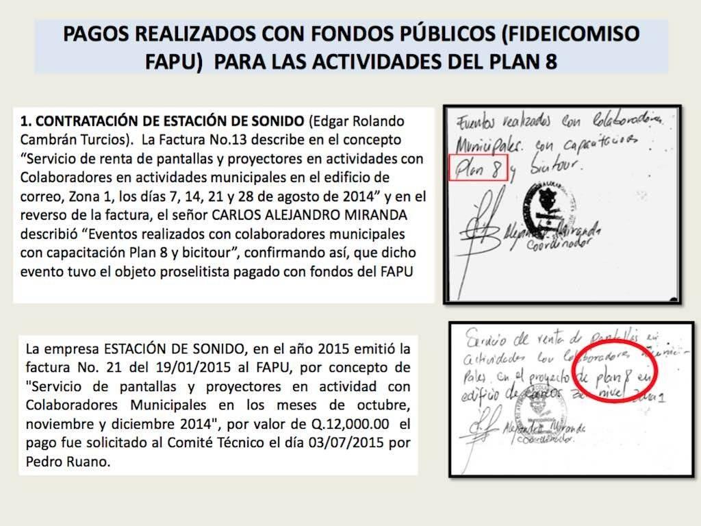 Se buscaba ganar las elecciones a la alcaldía de Guatemala de 2015. Foto: MP-CICIG