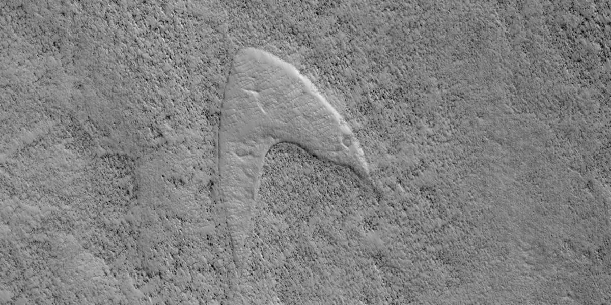 La NASA descubre un símbolo de Star Trek en la superficie de Marte