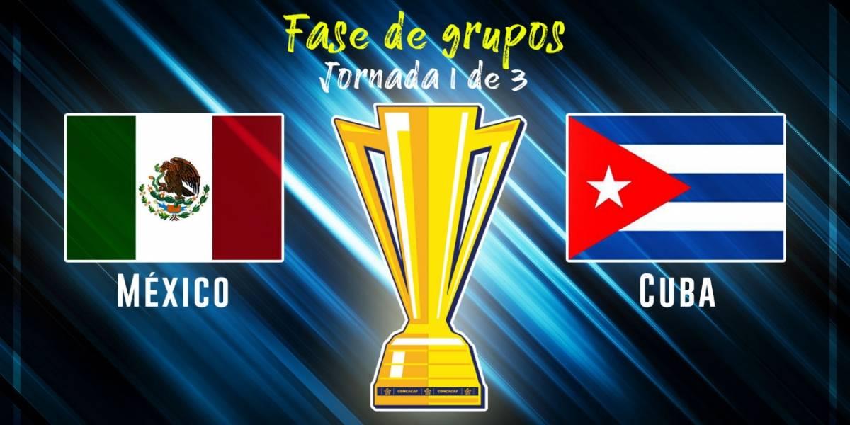 México golea a Cuba en la Copa Oro