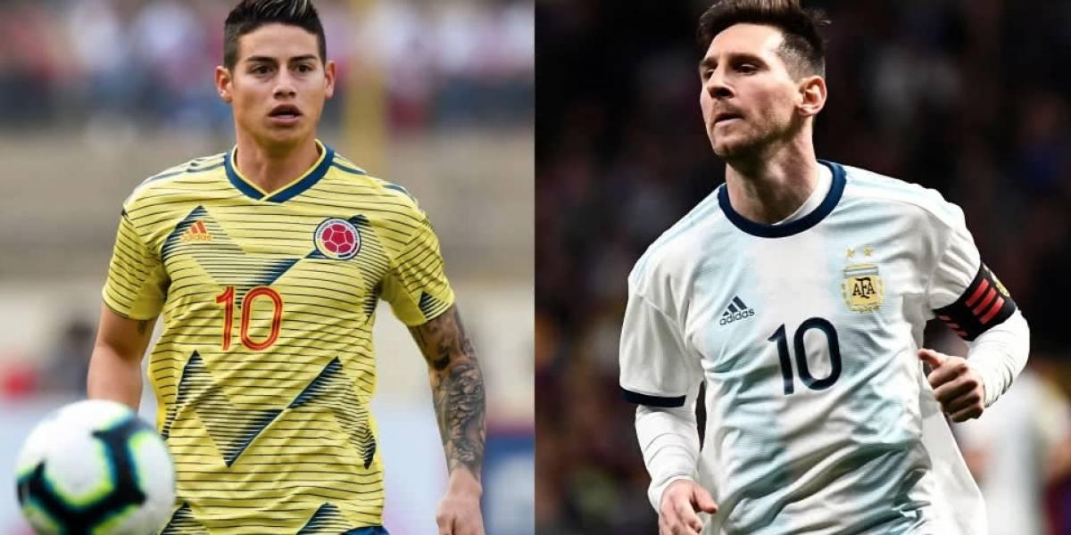 Argentina vs Colombia: EN VIVO, alineaciones, canales de transmisión, hora del partido