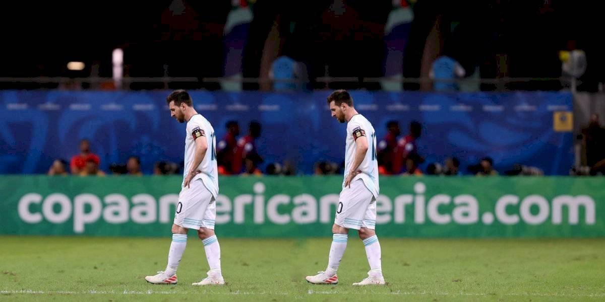 Ni con 'doble Messi' pudo Argentina ante Colombia