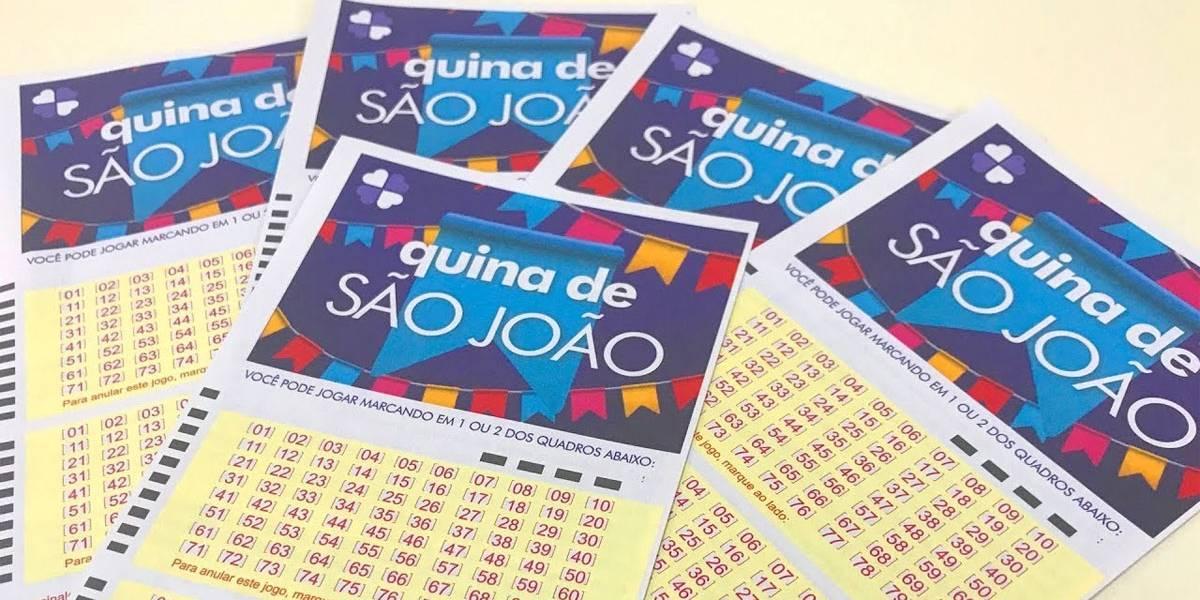Quina de São João: prêmio sai para 1577 acertadores da quadra