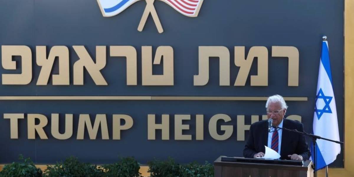 Inauguran la colonia Trump en los Altos del Golán