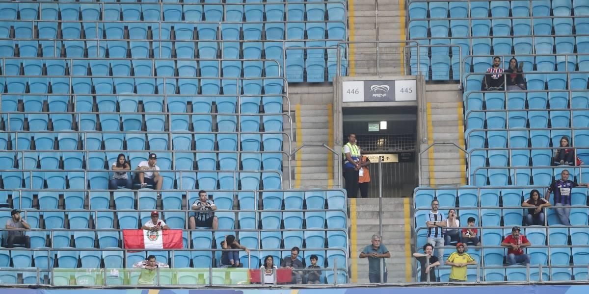 Gradas permanecen vacías por todas partes en la Copa América
