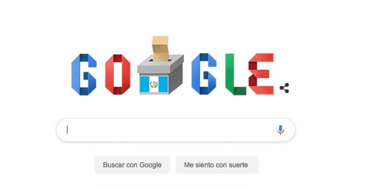 Google comparte doodle sobre elecciones en Guatemala