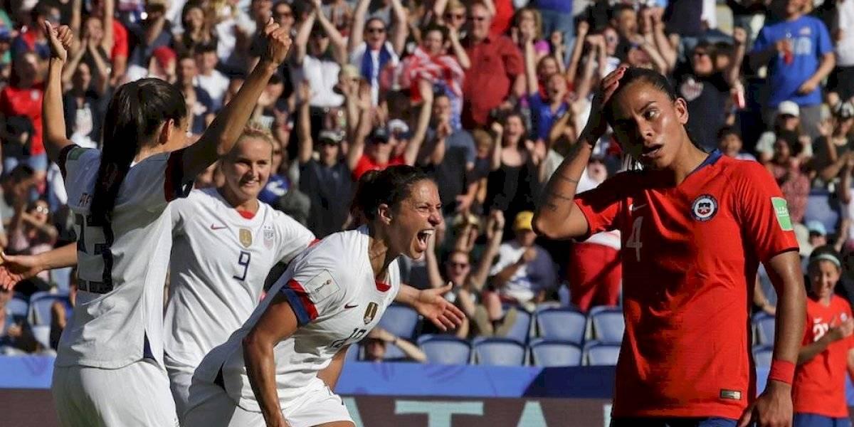 Estados Unidos golea a Chile y califica a octavos del Mundial femenil