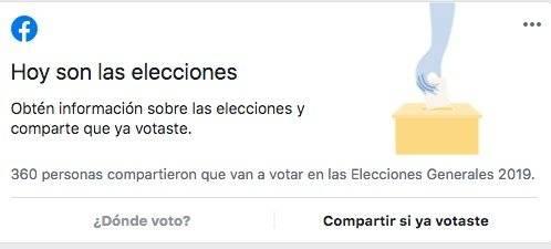 herramienta de Facebook sobre elecciones en Guatemala