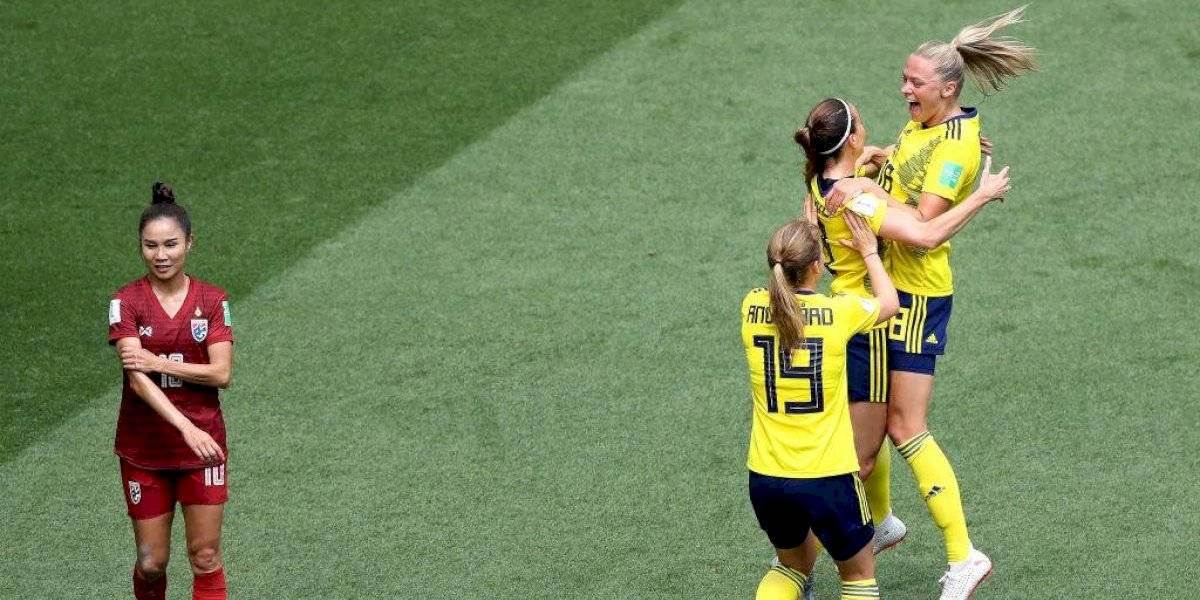 Suecia goleó a Tailandia y sigue firme en el grupo de Chile en Francia 2019