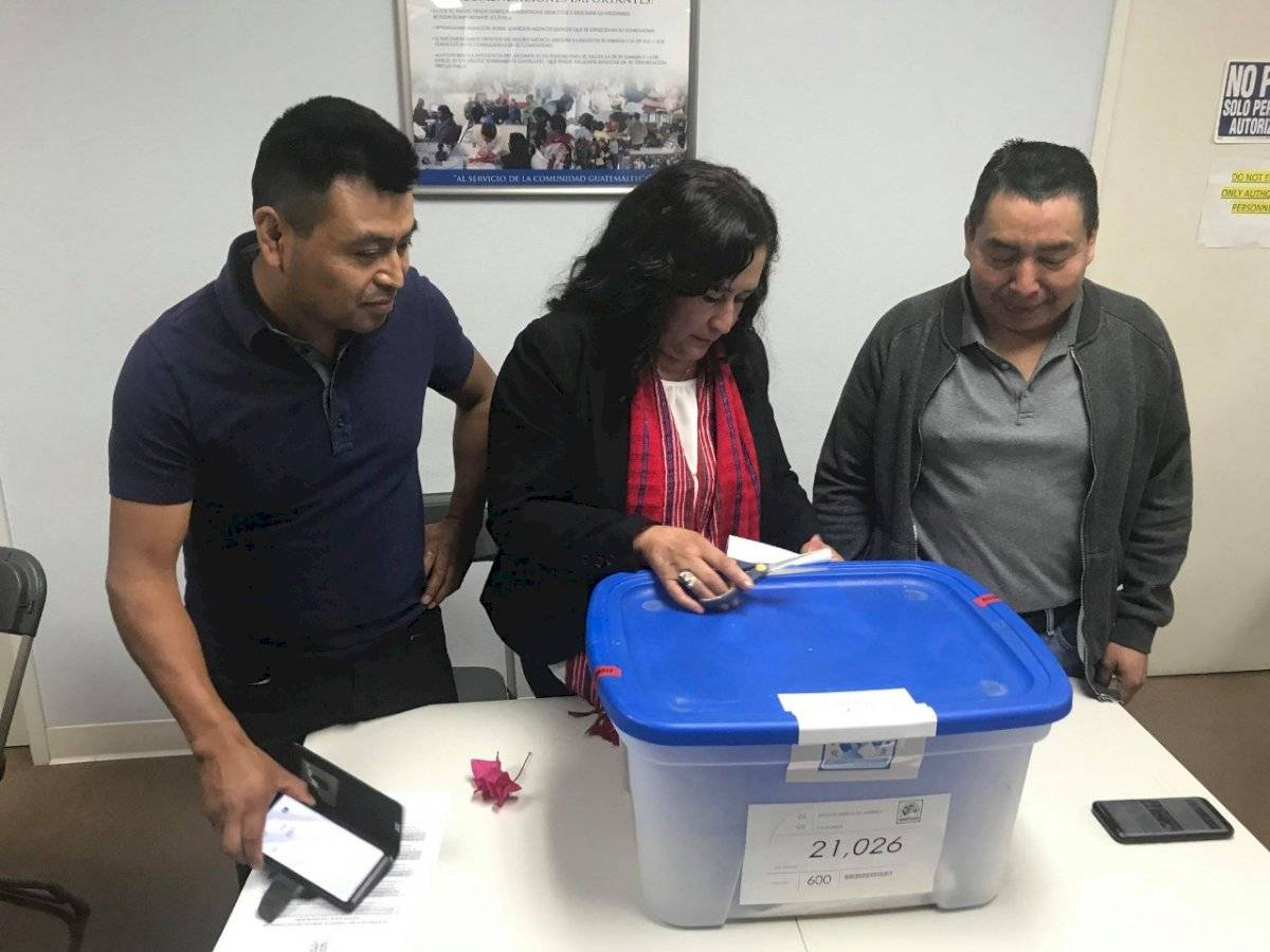 Voto en el extranjero. Foto: Cortesía