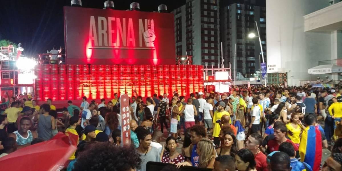 Colombiano fue agredido en Salvador Bahía después del partido