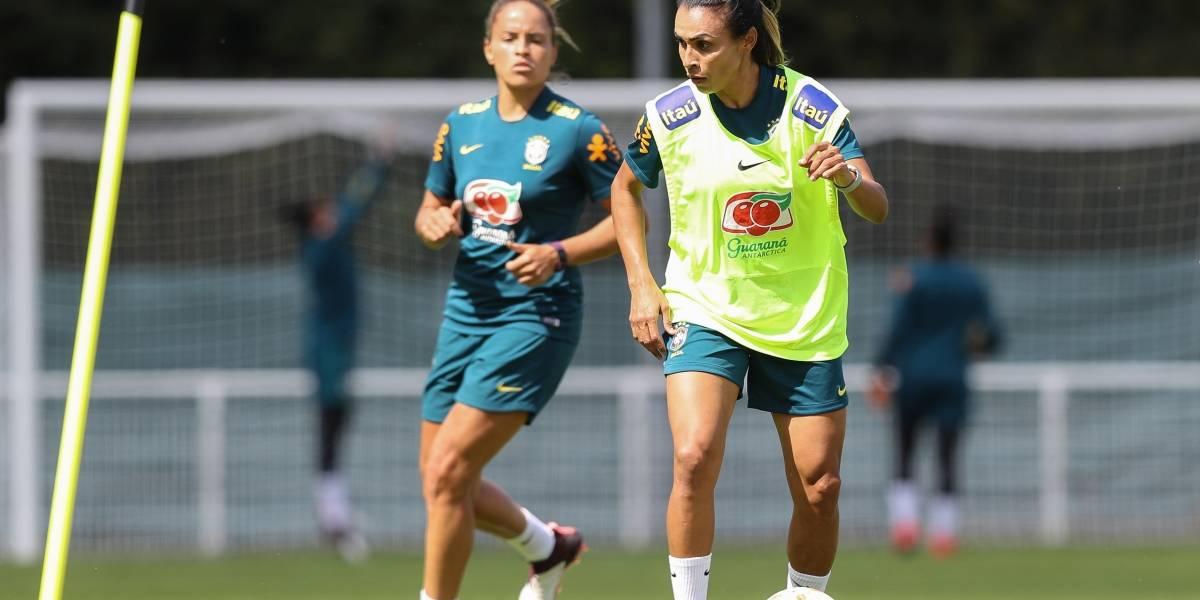 Copa feminina: Marta está confirmada no duelo decisivo do Brasil diante da Itália