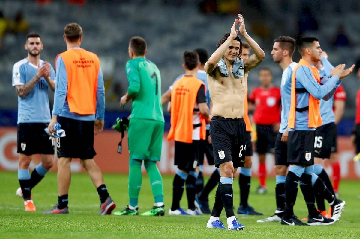 Uruguay vs Ecuador/ Cavani EFE
