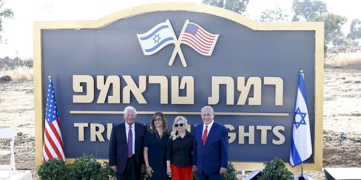Israel bautizó asentamiento en los Altos del Golán con el nombre de Trump