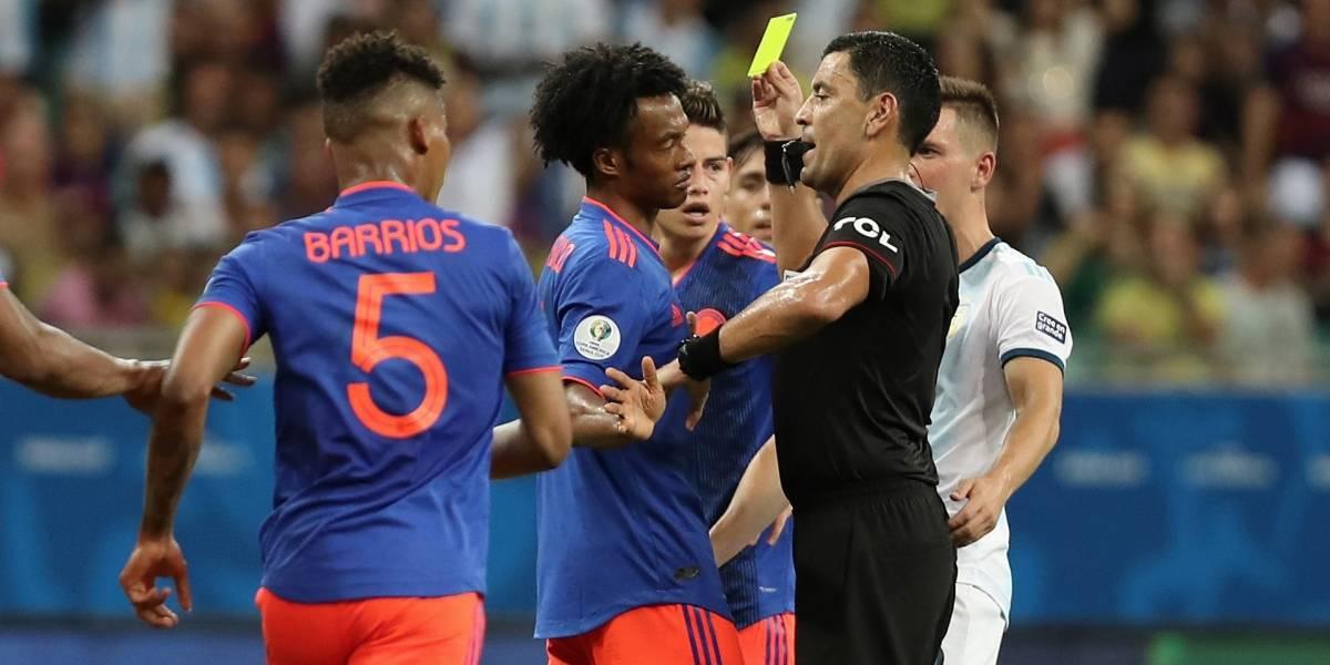 El insólito registro del árbitro para el partido Colombia contra Catar en Copa América